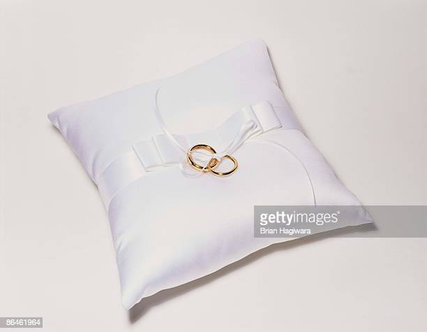wedding ring pillow stock photos and pictures getty images