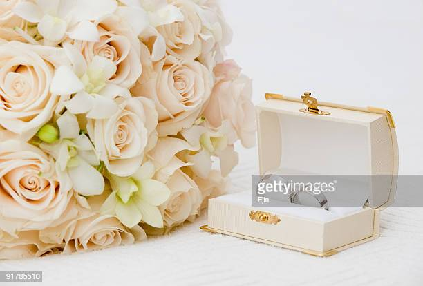 wedding rings - coffin stock pictures, royalty-free photos & images