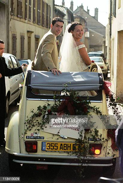 Wedding Robert Pires And Nathalie On April 13th 1998 In France