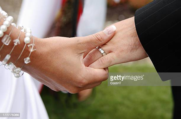 wedding scene - hands in love - platinum stock pictures, royalty-free photos & images