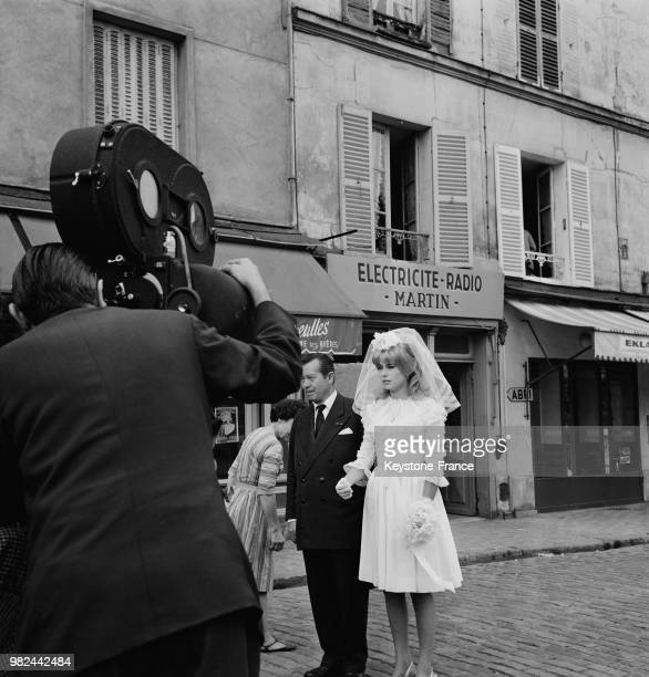 Wedding Scene With Catherine Deneuve On Set Of Movie Le Vice Et La Vertu Vice And Virtue Directed By Roger Vadim July 30 1962