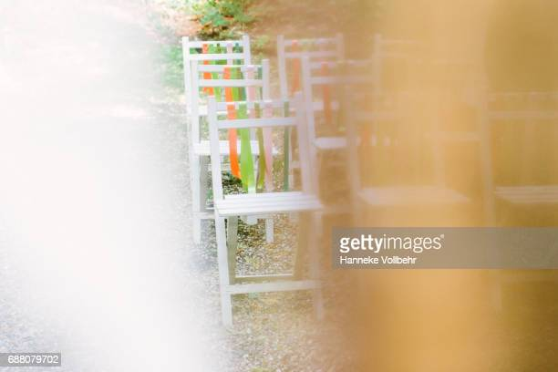 Wedding seating with Ribbons