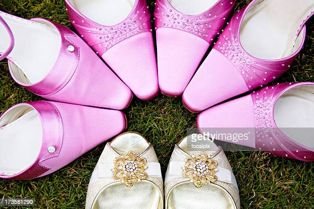 wedding shoes - pink shoe stock pictures, royalty-free photos & images