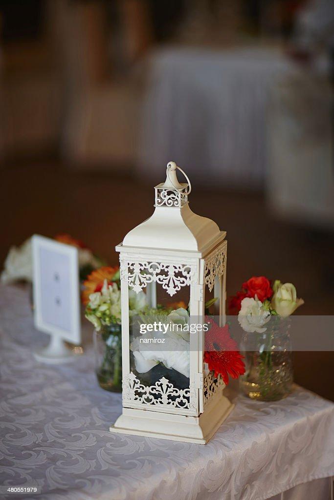 Decoração de mesa de Casamento : Foto de stock