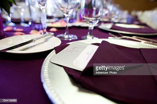 Wedding Table Setup with Menu