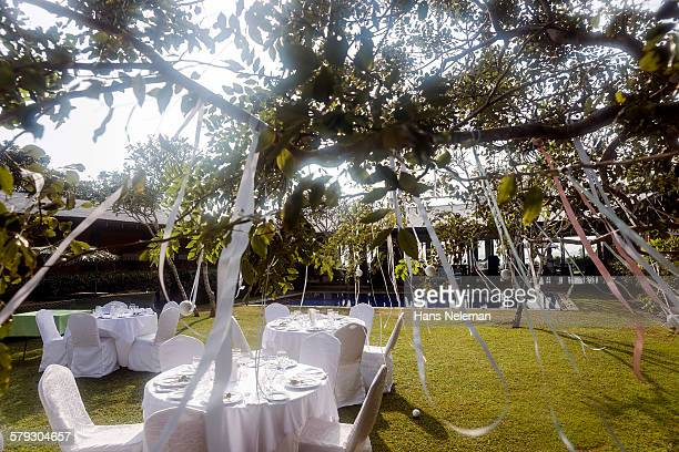 Wedding tables, outdoors
