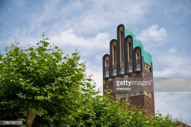 wedding tower, darmstadt, germany - darmstadt stock pictures, royalty-free photos & images