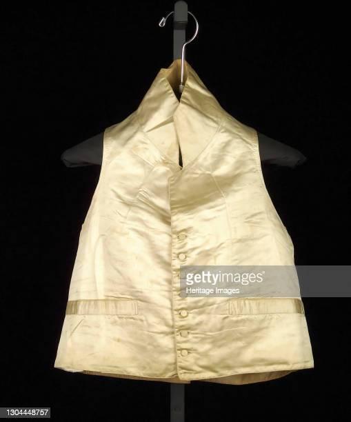 Wedding vest, British, 1808. Artist Unknown.