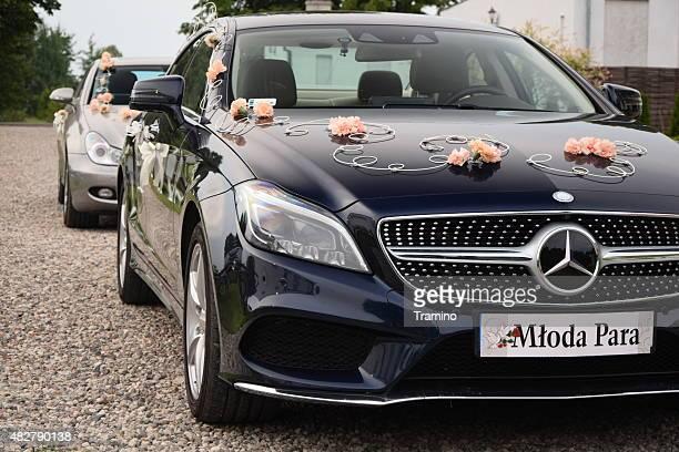 Weddings cars on the street