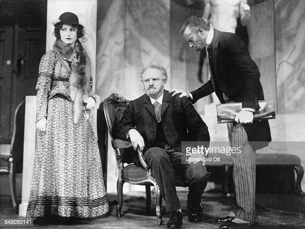 Wedekind Pamela*19061986Actress Germanywith Peppler and Henkel in the play 'Die Affaere um Dreyfuss' theater Volksbuehne Berlin Photographer Elli...