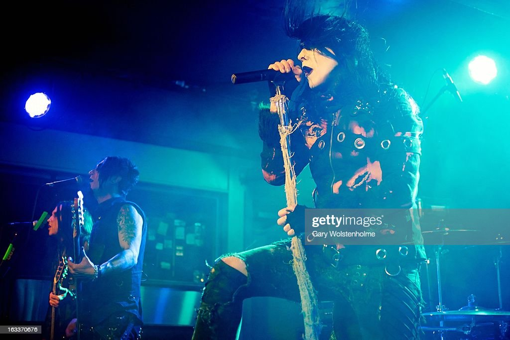 Wednesday 13 performs on stage at Manchester Academy on March 8, 2013 in Manchester, England.