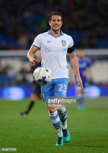 Wednesday player Sam Hutchinson in action during the Sky Bet Championship match between Cardiff City and Sheffield Wednesday at Cardiff City Stadium...