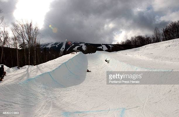 It was one up and one down as two snowboarders attempted the challenging 400foot Super Pipe at Sugarloaf USA Wednesday With Jen's story