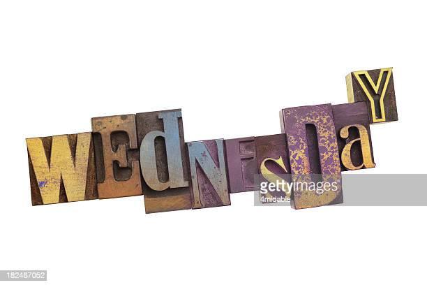 Wednesday - Vintage Wood Letterpress.
