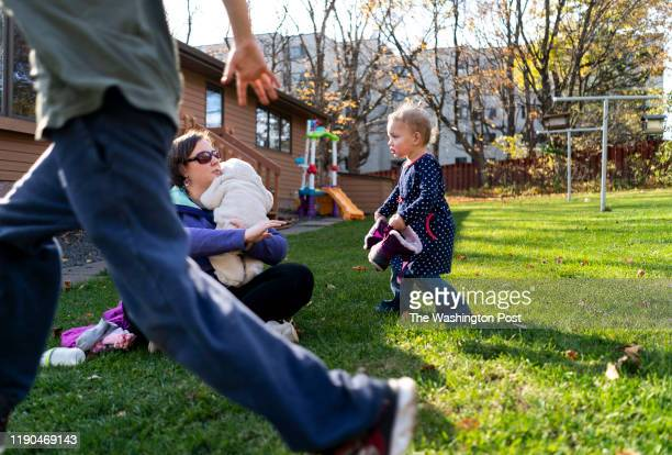 WeeCare Childcare owner Erica Hanson monitors the play of her daughter Sydney along with the other children enrolled in her small athome daycare...