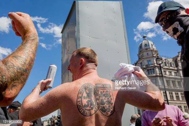A week after a Black Lives Matter protest turned to violence when the statue of wartime Prime Minister Sir Winston Churchill was daubed in graffiti...