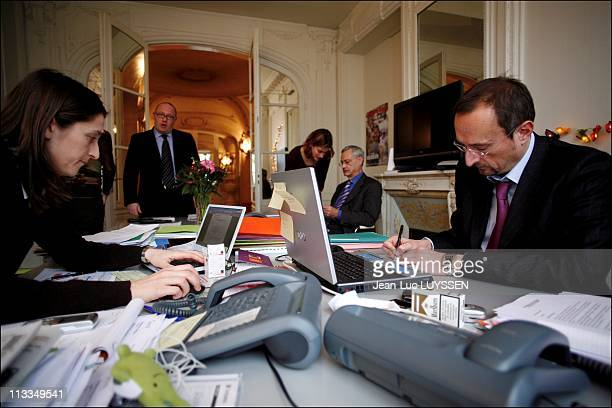 Week At The French Socialist Presidential Candidate Segolene Royal'S Campaign Headquarter In Paris France On February 06 2007 Camille Putois Thierry...