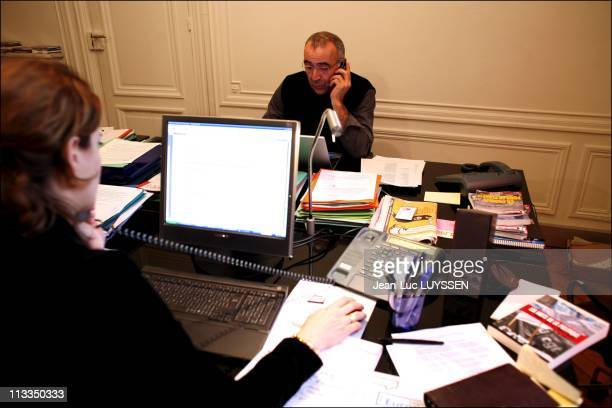Week At The French Socialist Presidential Candidate Segolene Royal'S Campaign Headquarter In Paris France On February 07 2007 Juliette Meadel Bruno...