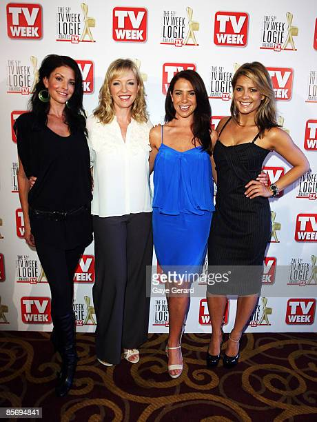 TV Week Gold Logie Nominees for Most Popular Personality on TV Simmone Jade Mackinnon Rebecca Gibney Kate Ritchie and Natalie Bassingthwaighte pose...