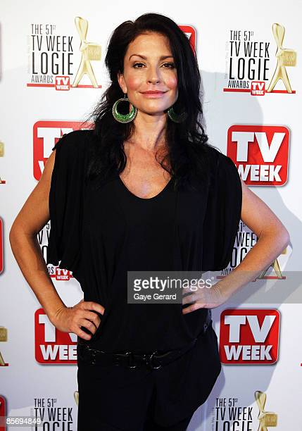 Week Gold Logie Nominees for Most Popular Personality on TV Simmone Jade Mackinnon poses during the nominations announcement for the 51st TV Week...