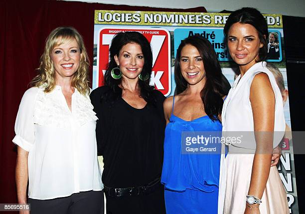 TV Week Silver Logie Nominees for Most Popular Actress on TV Rebecca Gibney Simmone Jade Mackinnon Kate Ritchie and Jodi Gordon pose during the...