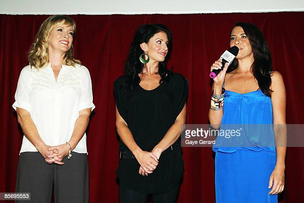 TV Week Silver Logie Nominees for Most Popular Actress on TV Rebecca Gibney Simmone Jade Mackinnon and Kate Ritchie onstage during the nominations...