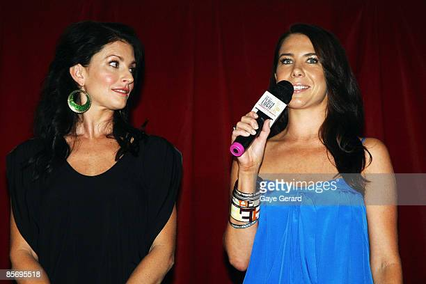 TV Week Silver Logie Nominees for Most Popular Actress on TV Simmone Jade Mackinnon and Kate Ritchie talk onstage during the nominations announcement...