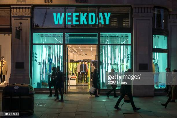 Weekday store seen in London famous Oxford street. Central London is one of the most attractive tourist attraction for individuals whose willing to...