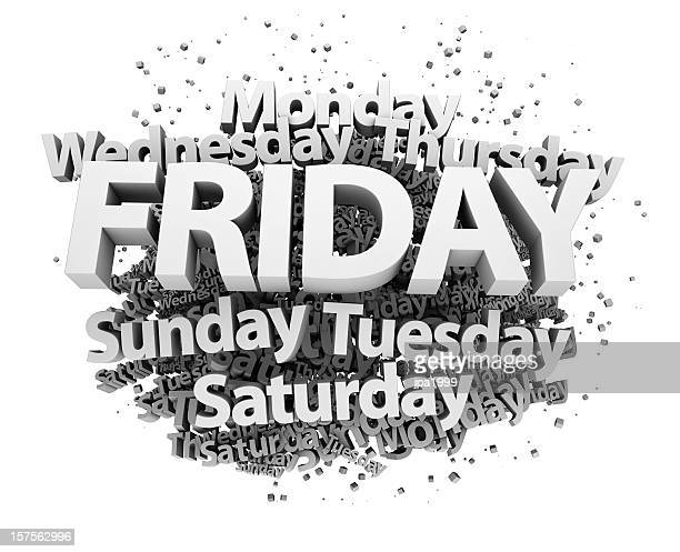 Weekdays concept - Friday