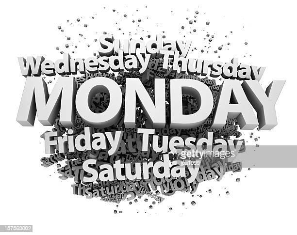 concepto de lunes, de lunes a viernes - sábado fotografías e imágenes de stock