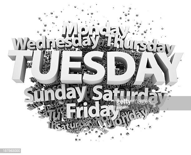 weekdays concept - tuesday - tuesday stock pictures, royalty-free photos & images
