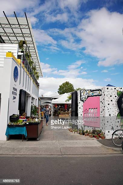 Weekend art craft market in innercity Melbourne