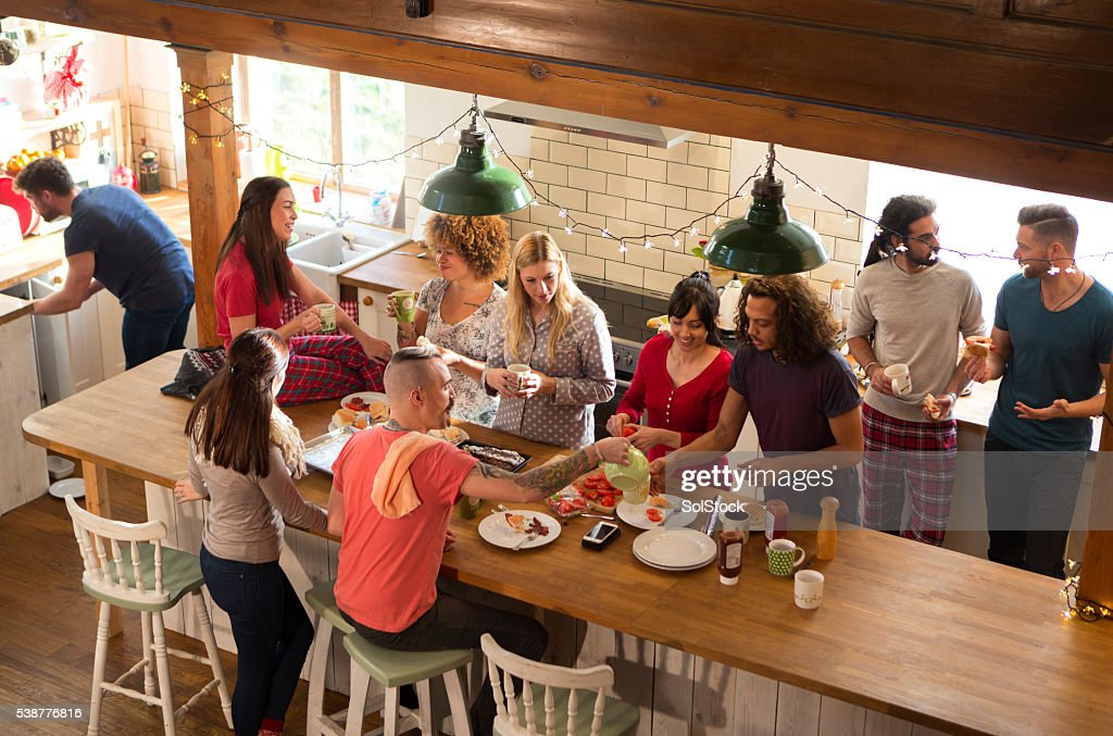 Weekend Away with Friends : Stock Photo