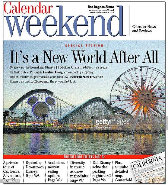 Weekend Calendar Cover refer for January 11, 2001. Photo of Disneyland by ^^^/LA Times.