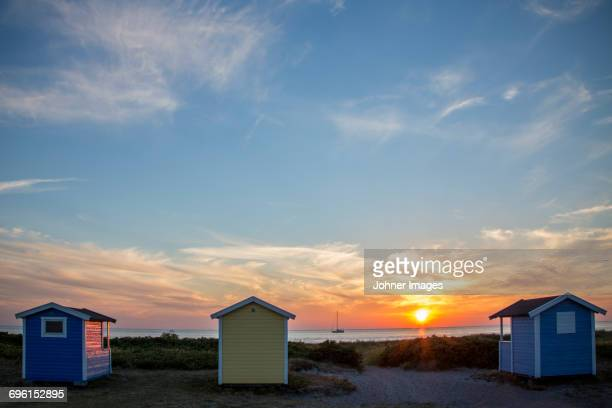 Weekend cottages on beach