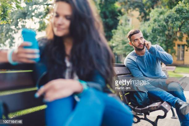 weekend in the park - stranger stock pictures, royalty-free photos & images