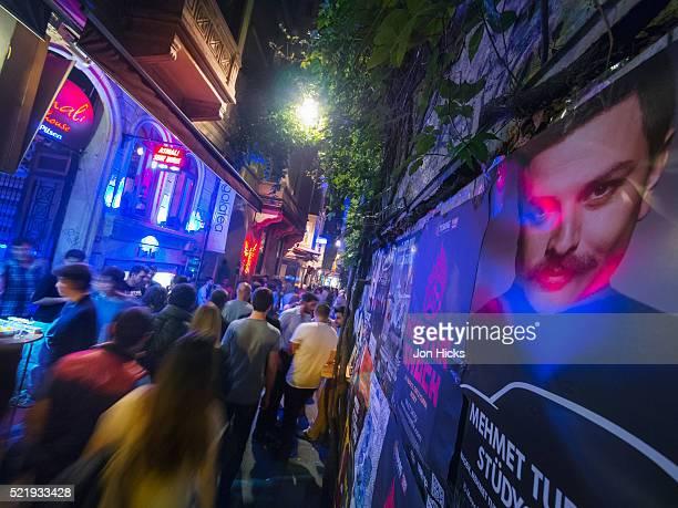 Weekend revellers in Beyoglu.