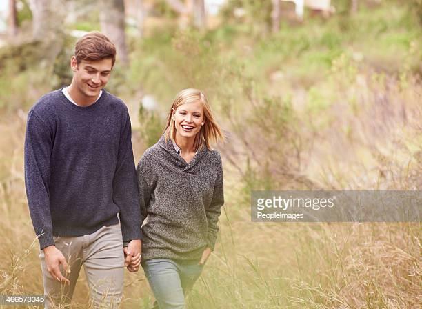 Wochenende machen Sie einen Spaziergang mit der one I love