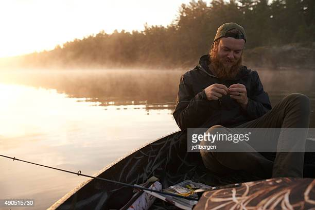 weekends are for fishing - lake auburn stock photos and pictures