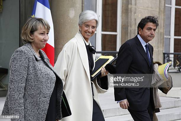 Weekly Council at Elysee Palace In Paris France On November 17 2010French junior Minister for Solidatity MarieAnne Montchamp French Economy Minister...