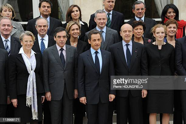 Weekly Council at Elysee Palace In Paris France On November 17 2010French President Nicolas Sarkozy Prime Minister Francois Fillon Defence and...