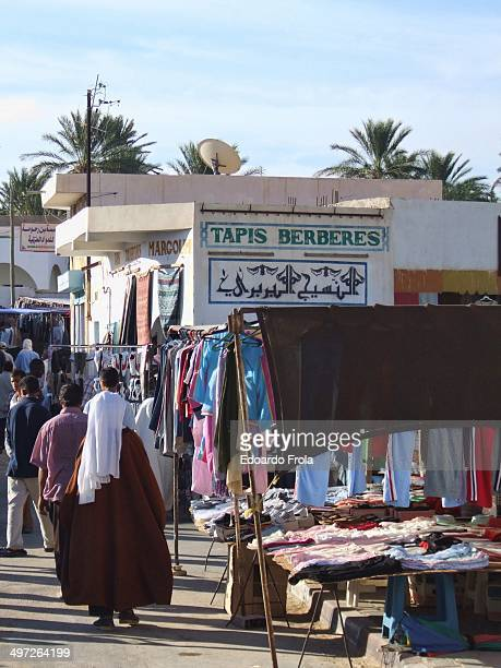 Weekly market in a small town at the edge of the Sahara desert.