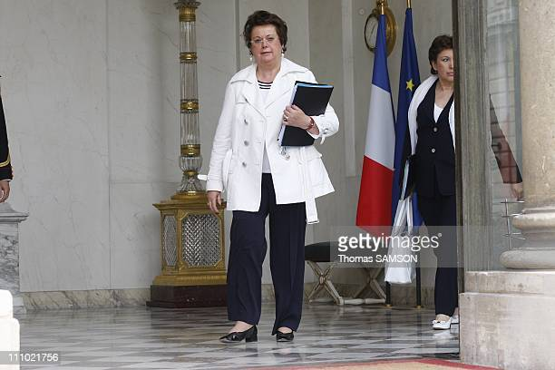 Weekly Ministers Council at the Elysee Palace in Paris France on June 10th 2009 Christine Boutin Minister for Housing and Urban Affairs