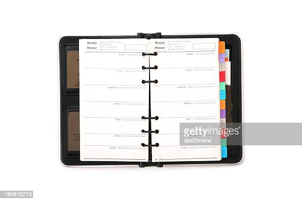 weekly planner - agenda stock pictures, royalty-free photos & images