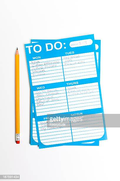 A weekly To Do list filled in with various chores and tasks