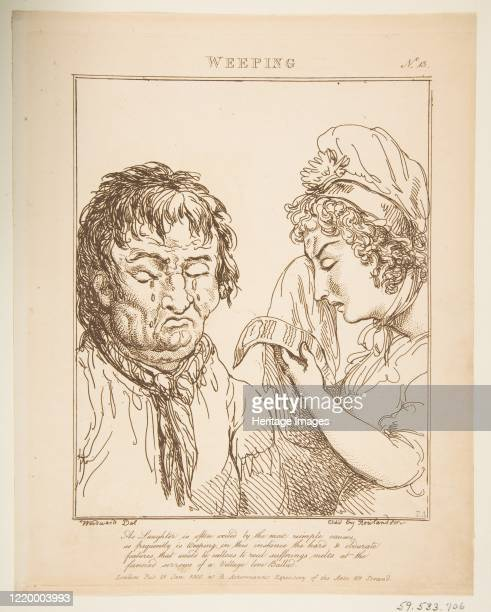 Weeping January 21 1800 Artist Thomas Rowlandson