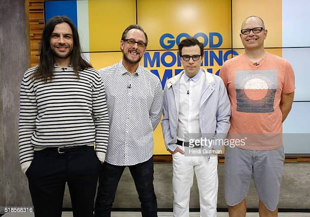 AMERICA Weezer performs live on Good Morning America 4/1/16 airing on the Walt Disney Television via Getty Images Television Network WEEZER