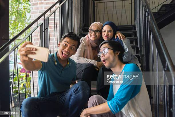 wefie - malay stock photos and pictures