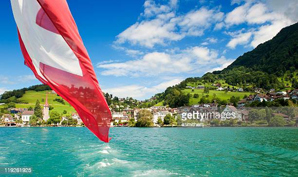 Weggis am Ufer des Lake Lucerne