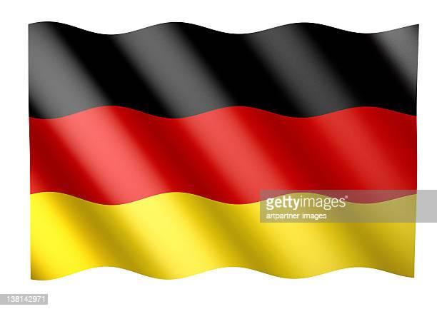 Wehende Deutsche oder Deutschland Fahne / Flagge